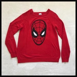 MARVEL COMICS | red Spider-Man long sleeve sweater